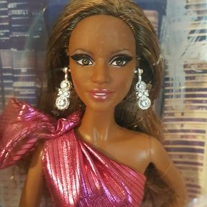 AA BARBIE The Look City Shine Pink dress NRFB